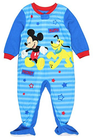 Disney Mickey Mouse Pluto Footed Pajama Blanket Sleeper Baby Boys 9 Months
