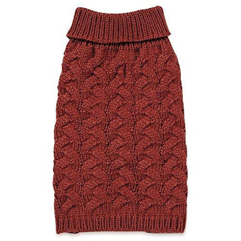 Zack & Zoey Elements Chunky Cable Sweater, Red, Medium
