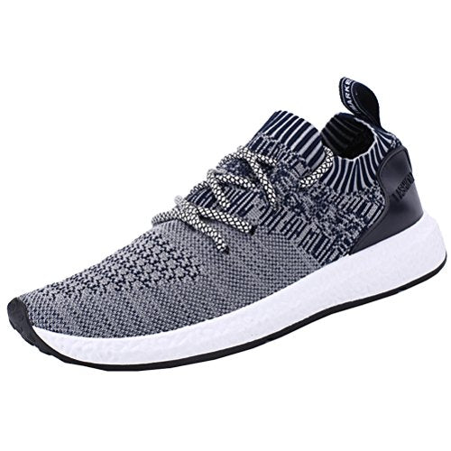 6a047a1817742 ROMENSI Men s Knit Lightweight Running Shoes Soft Sole Casual Athletic  Tennis Walking Sneakers US6.5