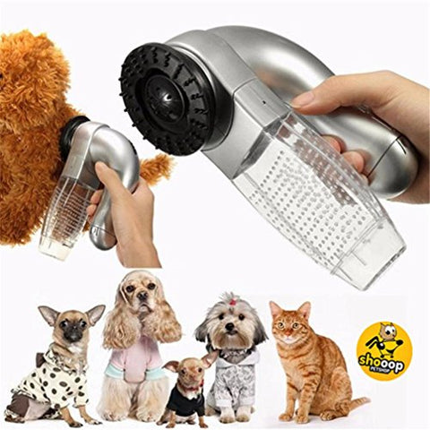Chartsea Cat Dog Pet Hair Fur Remover Shedd Grooming Brush Comb Vacuum Cleaner Trimmer (A)