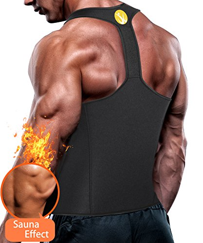 3cbecf82fde Junlan Men Workout Tank Top Vest Gym Shirt Weight Loss Dress Waist Body  Shaper Sauna Suit