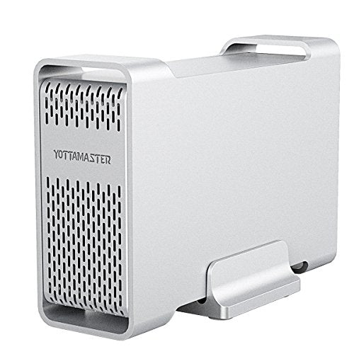 "Yottamaster 2.5 Inch USB 3.0 External Hard Drive RAID Enclosure 5Gbps 2 Bay for 2.5"" SATA HDD/SSD"