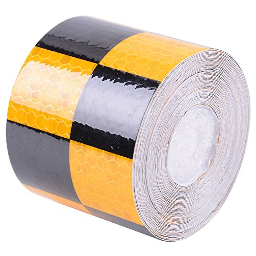 "Reflective Safety Tape 2"" x 30' Adhesive Tape for Bicycle Motor Helmet Stair Steps"