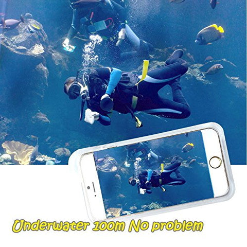 Underwater Housing for iPhone 8 Plus iPhone 7 Plus and iPhone 6/6s Plus, Grade IP68 Professional [100m/328ft] Dive Swimming Underwater Photo Video Camera Waterproof Case Cover for iPhone 6/6S/7/8 Plus