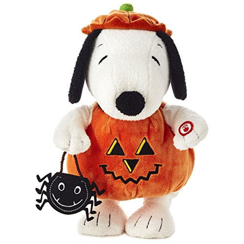 Peanuts Pumpkin Time Snoopy Stuffed Animal With Sound And Motion