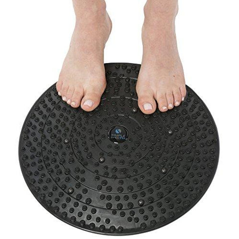 "Acupressure Mat Foot Therapy - Large 13"" Therapeutic Massage Disc Perfect for Feet Pain Relief, Plantar Fasciitis, Stimulating Blood Circulation, Acupuncture and Self Reflexology with eBook Guide"