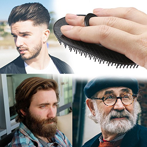 Portable Mens Pocket Brush, Shampoo Comb, Scalp Massager Hair Brush Beard Comb Palm Comb for Travel, Pet Grooming Brush Set Short Hair Dog Brush Cat Grooming