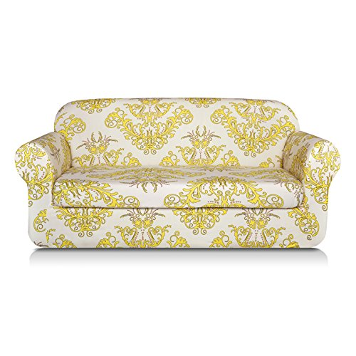 TIKAMI 2-Piece Spandex Printed Fit Stretch Sofa Slipcovers (Loveseat ...