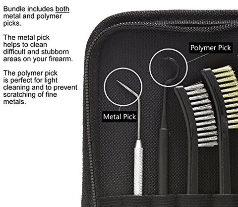 Universal Cleaning Kit | Grip Roll Pin Punch Tool Set | Cleaning Brush & Pick Kits in Zippered Organizer Carry Case | Best for Disassembly & Maintenance