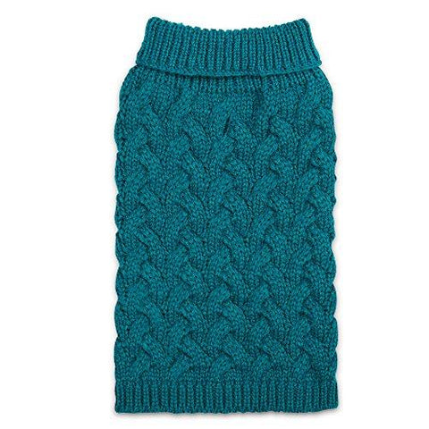 Zack & Zoey Elements Chunky Cable Sweater, Blue, Large
