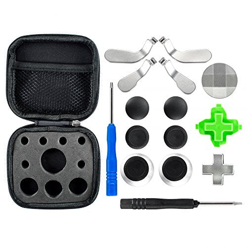 eXtremeRate Metal Magnetic 3 in 1 D-pads Thumbsticks Joysticks Paddles Hair Trigger Locks T8H Cross Screwdriver Repair Replacement Parts Kits for Xbox One Xbox One Elite Xbox One S Controller
