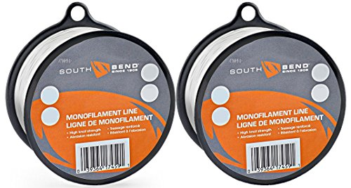 South Bend Monofilament Fishing Line 15 lbs Test, 370 Yards (2 Pack)