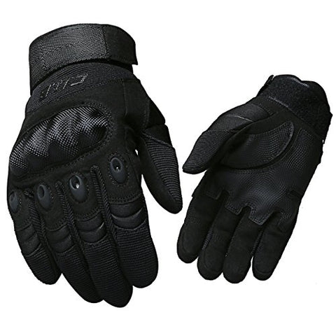 CQB Outdoor Tactical Gloves Riding Cycling Carbon Fiber Hard Knuckle Armor Men's Gloves