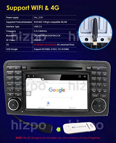 Android 7 1 Quad Core Car In Dash Radio For Mercedes Benz ML CLASS W164  2005-2012 & ML300 & ML350 & ML450 & ML500 DVD Player GPS Navigation 7