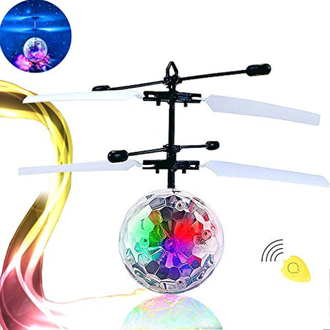 RC Flying Ball, PlayEgg Kid RC Toy, Hand Suspension Helicopter Ball toy,Built-in Shinning LED Lighting for Kids, Teenagers