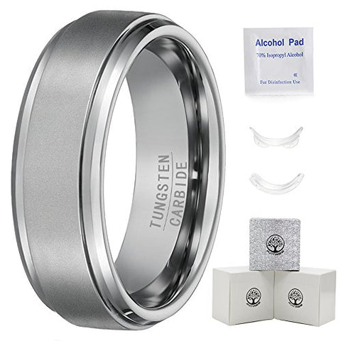 Tungsten Rings for Men Wedding Bands for Him 7mm Men Rings Men's Tungsten Carbide Ring Matte Finish