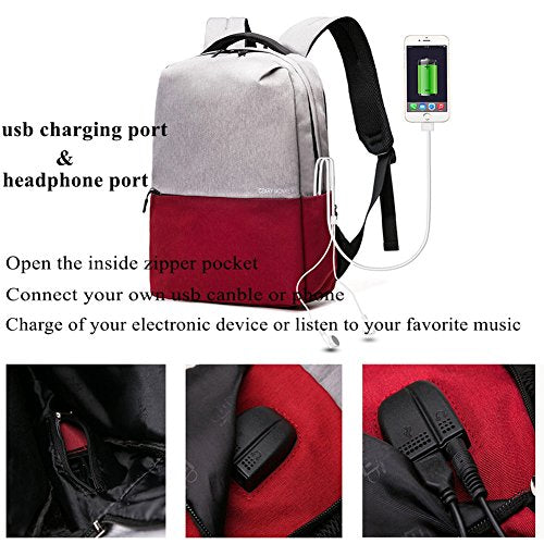 1744eb65aa3e Panda Kelly Travel Laptop Backpack for Women & Men, Anti Theft Slim  Business Computer Backpack with USB Charging Port and Earphone Port, Water  ...