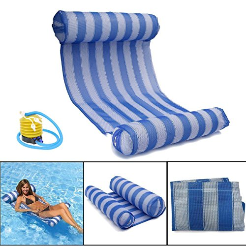 OUTERDO Water Hammock Pool Lounger Float Hammock Inflatable Rafts ...