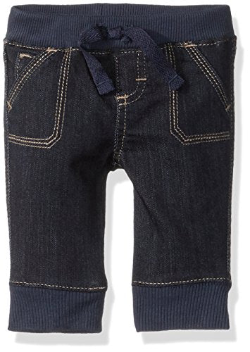 Wrangler Authentics Boys' Jogger Jean, Dark Alloy, 3-6M