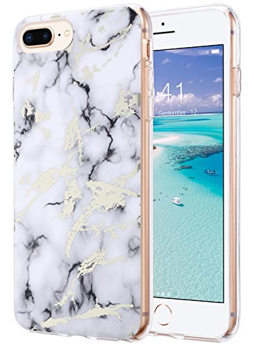 the latest 52ff3 2550f iPhone 8 Plus Case, Marble iPhone 7 Plus Case, ULAK Shiny Glossy White  Marble Design Clear Slim Lightweight Soft TPU Rubber Bumper Hard Back Cover  for ...