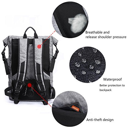 GOHIGH Anti Theft Backpack, Yoga Fitness Exercise Sport Backpack With Shoe  Storage,Multi