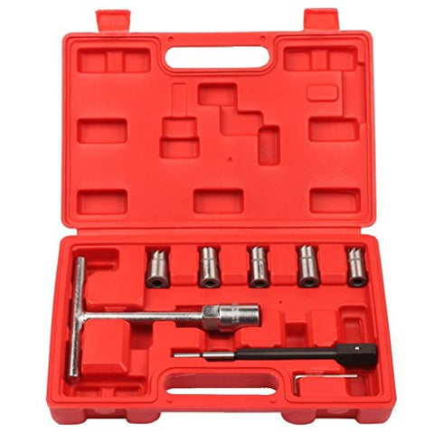 Supercrazy 7PCS Laser Diesel Injector Seat Cleaning Tool Kit For BMW PSA Renault Ford Mercedes-Benz SF0039