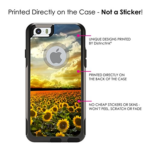 c89664a8525 iPhone 6 6S Plus OtterBox Commuter Black Custom Case By DistinctInk - Green  Blue Yellow Sunflowers