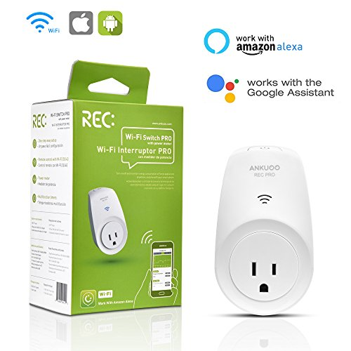WiFi Smart Plug Mini Outlet with Energy Monitoring, Wireless Switch No Hub Required, Wifi/4G/3G/LTE Enabled, Remote Control Your Appliances from Anywhere Compatible with Amazon Alexa