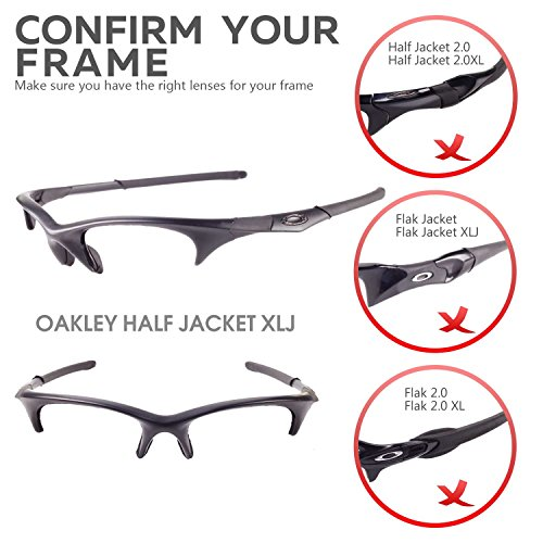 54774bcfb2092 Walleva Replacement Lenses and Rubber for Oakley Half Jacket XLJ Sunglasses  - 22 Options Available (