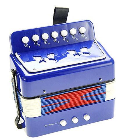 PowerTRC Children's Musical Instrument Accordion (Blue)