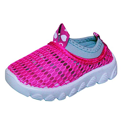 CONDA Shoes Mesh Girls Sneakers Hybrid Water Shoes - Durable - Machine  Washable - Size 27 M EU/10 M US Child, Gray and Pink