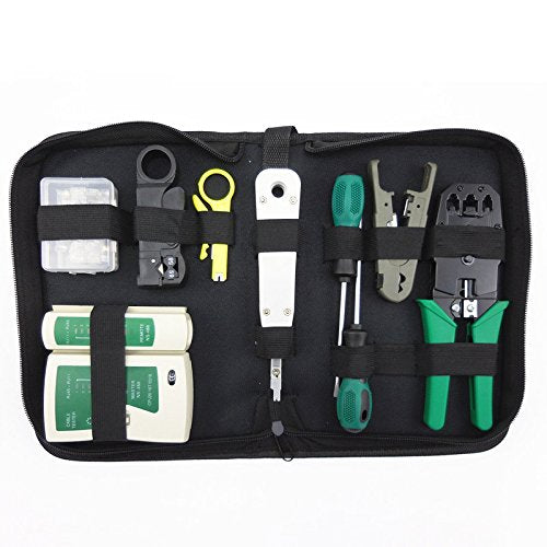 10Pcs Network Computer Maintenance Repair Tools Kit Cable Tester for RJ11 RJ45 Maintenance Tool