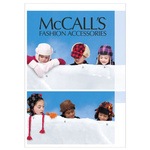 McCall's Patterns M6665 Children's/Boys'/Girls' Hats and Mittens Sewing Template