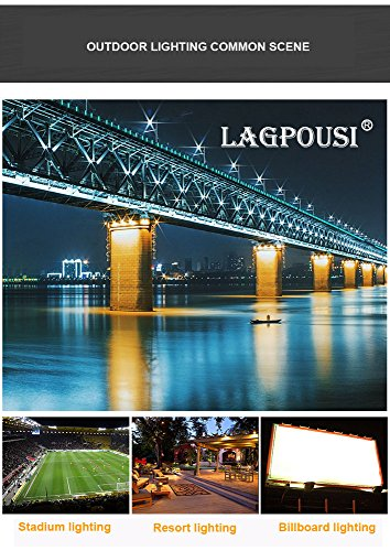 lagpousi 100W Super Bright Outdoor LED Spotlight Lights, 500W Halogen Bulb Equivalent, Waterproof IP66 10000lm,OSRAM LED Chip, Angle of 60 Degrees,6000K White, Garden Lights, Flood Light,floodlight