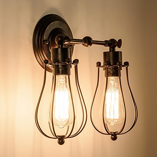 Astonishing Industrial Wall Sconce Luling Rustic Loft Antique Wall Lights Wire Wiring Digital Resources Bioskbiperorg
