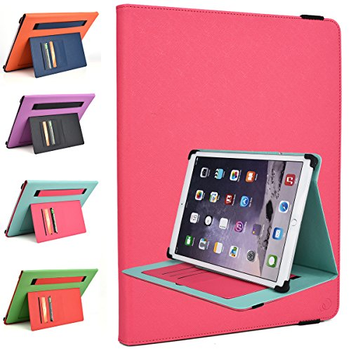 Kroo Microsoft Surface Pro 4 12.3-inch, Pro 3 12-Inch, Surface 3 10.8-inch Rotating 2016 Tablet Cases | Magenta Pink/Mint Green Portrait or Landscape Orientation 360 Stand Cover