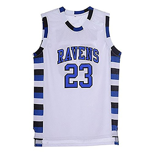 TUEIKGU Mens Nathan Scott 23 Ravens Basketball Jersey Stitched Sports Movie Jerseys White
