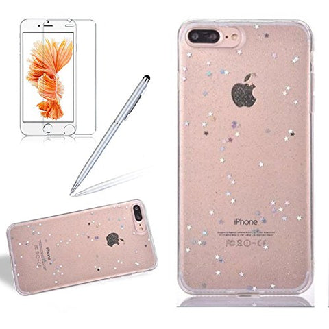 Case Cover For Iphone 6 6S PLUS, Girlyard Shiny Bling Sparkling Flexible Soft Silicone TPU Case Clear Glitter Crystal Stars River Back Protection Case Cover Retail Packaging For Iphone 6 6S PLUS