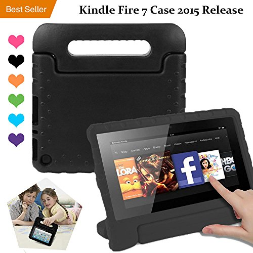 Amazon Kindle Fire 7 Case Tablet Kid-Proof (5th Generation 2015 Release  Edition) kickstand EVA Shockproof Lightweight Folio Handle Stand Cover 7  inch