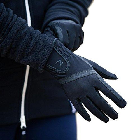 Horze Evelyn Women's Breathable Summer Gloves Black