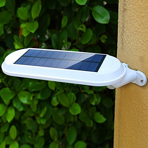 Yezijin Waterproof Solar Power Motion Sensor Wall Mount LED Light Outdoor Garden Lamp (White)