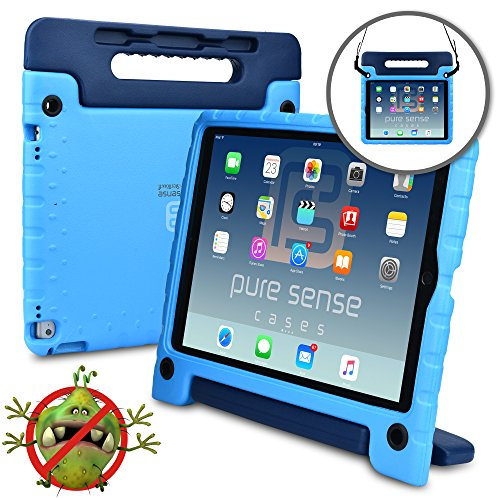 buy online 20197 765e3 Samsung Galaxy Tab E 9.6 case for kids - [WORLD'S FIRST ANTI MICROBIAL KIDS  CASE] PURE SENSE BUDDY Child Proof Shock Protective Cover for Boys   ...