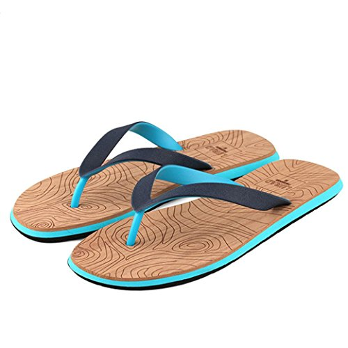 Men's Flip-Flop, Amiley Men Beach Shoes Summer Flip Flops Shoes Sandals Male Beach Swimming Pool Slipper Flip-flops (43, Blue)