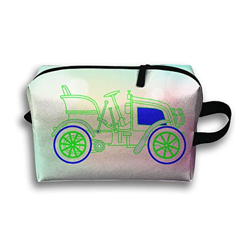 Old Car Storage Cosmetic Case Travel Makeup Bag For Womens