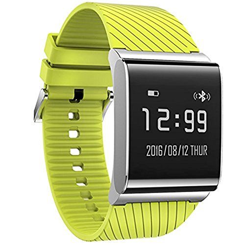 NEW X9 Plus Smart Band Wristbands blood pressure oxygen monitor Smart Bracelet Watch Activity Track Smartwatch Band for Android iOS (Green)