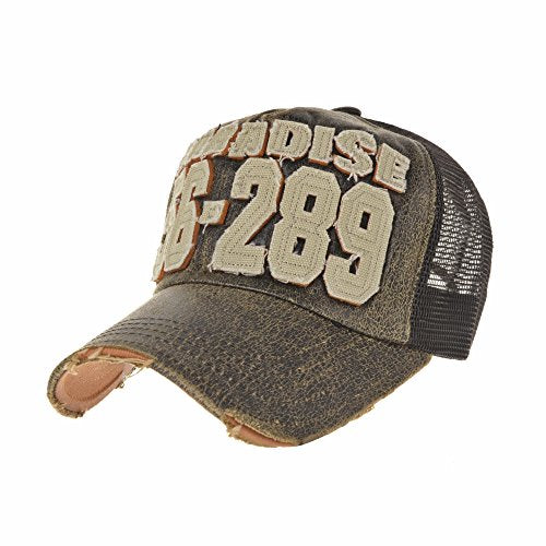 00f056c0cbdf1 WITHMOONS Baseball Cap Vintage Style Mesh Distressed Washed Cotton Summer  Dad Hat Trucker Cap Adjustable Patch
