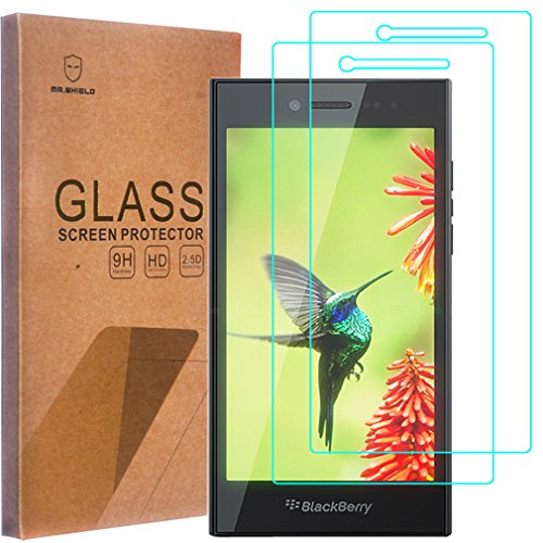 [2-PACK]-Mr Shield For BlackBerry Leap [Tempered Glass] Screen Protector  with Lifetime Replacement Warranty