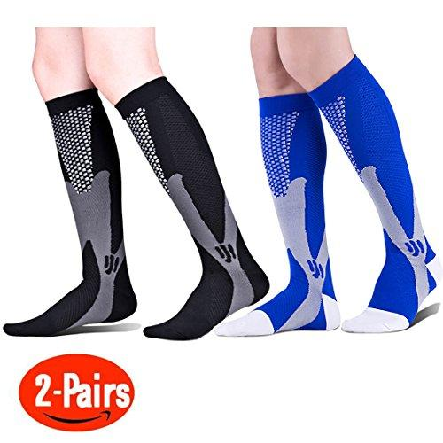 4b32b1d8f5 2 Pair Graduated Compression Socks 20-30 mmhg - for Nurses Cycling Runners  Fitness Weight