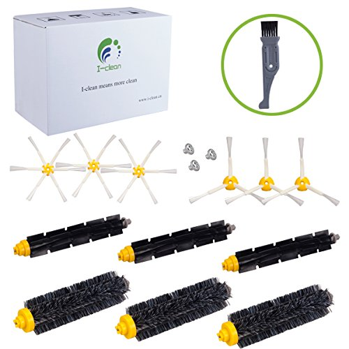I-clean Parts for iRobot Roomba 620 650 770 780 790, Replenishment Brush  Kits for Roomba Vacuum Cleaner 600&700 Series, Bonus a Free Cleaning Brush
