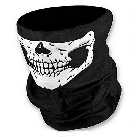 16-In-1 Versatile Headwear Breathable Skull Ghost Military Headwear Multipurpose Fishing Balaclava Quick Dry Tactical Mask Warm Neck Gaiter Hunting Scarf